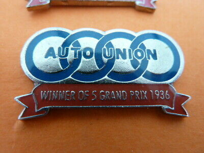 Pin's  Voitures / Sigle  Auto Union /   Winner  Of 5 Gd Prix 1936  / Superbe