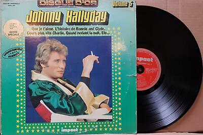 Johnny Hallyday ‎– Disque D'Or Volume 5 33T LP G+/VG++ Impact ‎– 6886 186