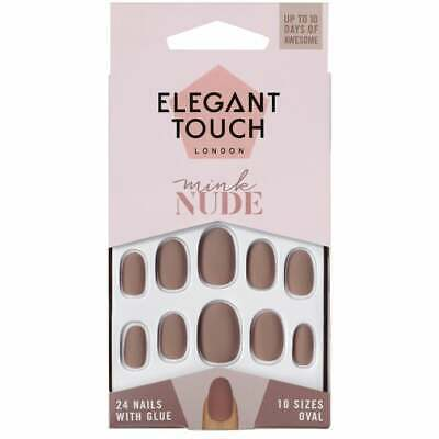 Elegant Touch Mink Nude 24 Nail with Glue