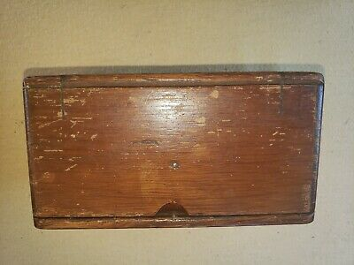 Antique 1889 Singer Treadle Sewing Machine Wood Puzzle Box w/ Attachments
