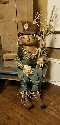 *made to order* Primitive Scarecrow w/ Crow, Mouse and Corn Stalk- Fall/Autumn