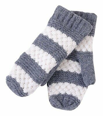 Tickled Pink Knitted Mittens Lined with Faux Fur To Keep Your Hands Warm...