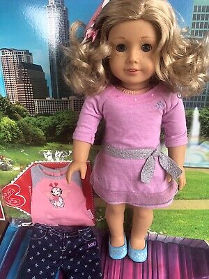 American Girl truly me, blonde hair blue eyes and freckles and extra outfit