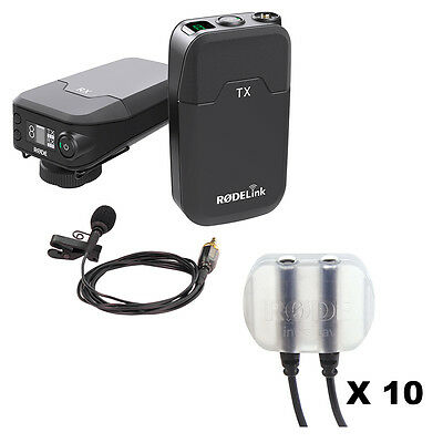 RodeLink Wireless Filmmaker Kit with Rode invisiLav Mounting System (10-Pack)
