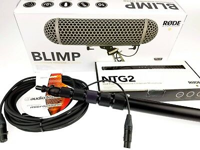 Location Sound Package Rode NTG-2, Blimp, Boompole, and cable