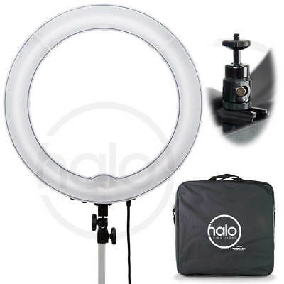 "Prismatic Lighting HALO 18"" dimmable ring light; 220V with Euro plug"
