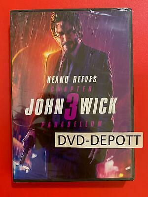 John Wick Chapter 3 Parabellum DVD AUTHENIC READ LISTING New FAST Free Shipping