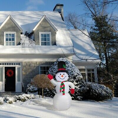 ALEKO Christmas Outdoor Yard Decor Giant Inflatable LED 8 ft Snowman with Blower