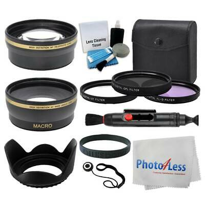 58mm Lens 3 Piece Filter Accessory Kit for Canon, Nikon, Sony, Samsung