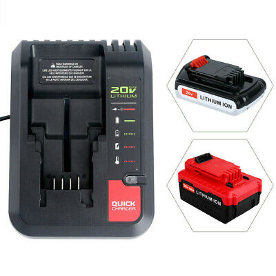FOR PORTER CABLE 20Volt 20V MAX Lithium Ion Fast Battery Charger PCC692L PCC691L