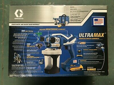 Graco Ultra Max Handheld HH cordless - Professionelles Akku Airless-Spritzgerät