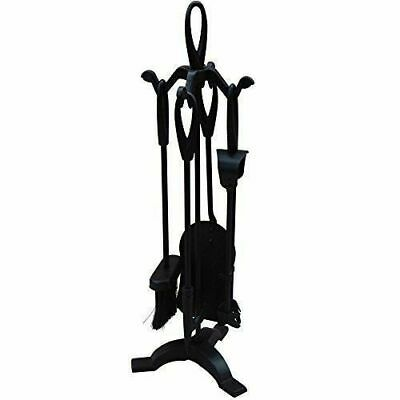5 Piece Companion Set Black Fireside Fire Tools Fireplace By Home Discount