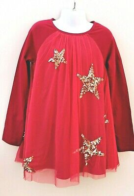 New Girls Pink Sparkle Overlay Jersey Dress Ex Boden Age 3-16 Years RRP £48