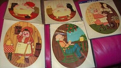 Lot of 5 Vintage Meyercord Decals for Arts & Crafts