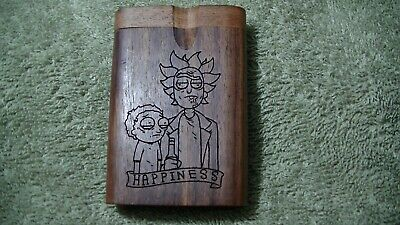 Laser Engraved Rick And Morty  ,Dug Out With Batter Pipe