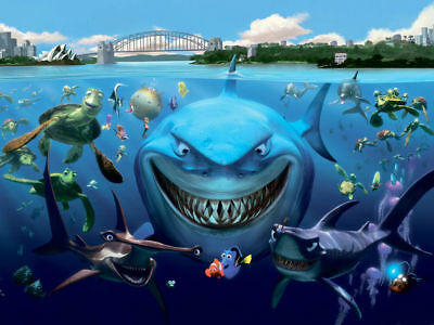 Home Decor Art Quality Canvas Print,Animal Pictures Finding Nemo Cast 18x24