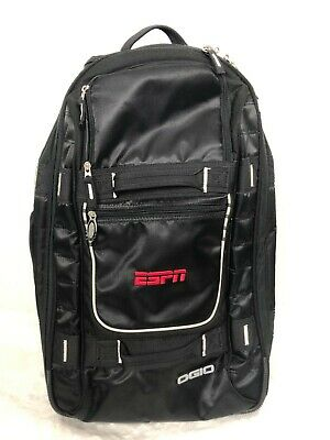 OGIO Travel Carry On Bag Rolling Luggage ESPN Stand Up Suitcase Black 23""