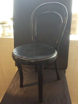 Antique Victorian Ebonized Child's Chair