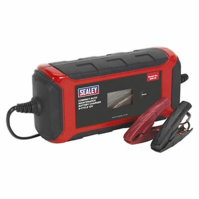 Sealey Battery Charger Compact Auto Maintenance 8A - 9-Cycle 12V SMC14