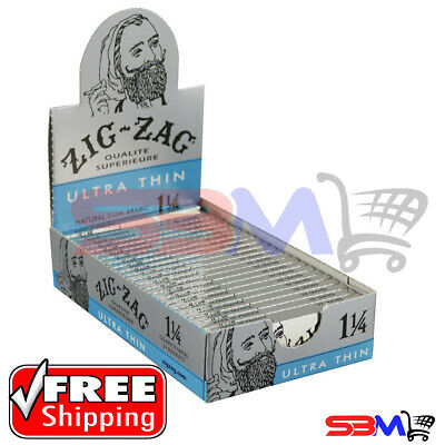 Zig Zag Ultra Thin 1 1/4 Rolling Papers - 24PK DISPLAY