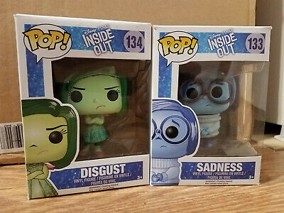 Inside Out Funko Pop Lot! Disgust and Sadness! NIB! Vaulted!