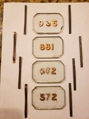 Antique Post Office Mailbox DoorHand Painted Glass Window Panels with Clips