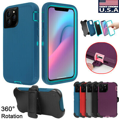 Armor Heavy Duty Shockproof Hard Case Cover w/ Belt Clip For iPhone 11 Pro Max