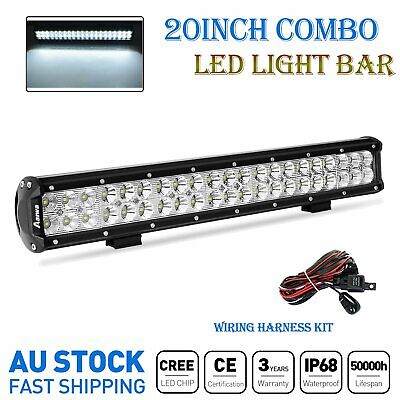 20inch CREE LED Light Bar Flood Spot Combo Work Driving Offroad SUV 4x4WD +Wire