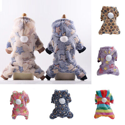 Soft Velvet Dog Jumpsuit Winter Dog Clothes Small Puppy Coat Pet Outfits Hoodie