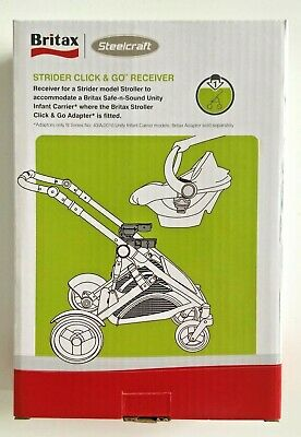 BRITAX CLICK & GO RECEIVERS to fit STRIDER stroller and attach a UNITY CARRIER