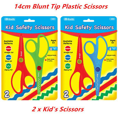 Safety Scissors Kids 14cm Wave Zigzag Cut Blunt Tip Art Craft Children Plastic