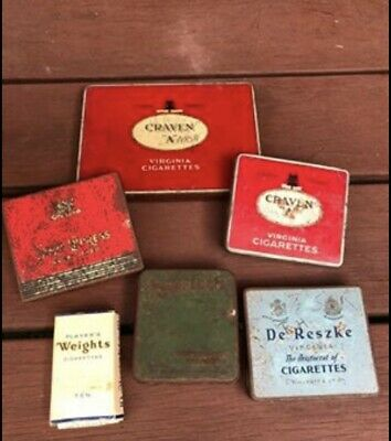 Group Lot 5 Vintage collectable tobacco tins Empty