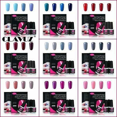 Clavuz Esmalte Semipermanente 4pcs Kit de Uñas de Gel UV LED Manicura y Pedicura