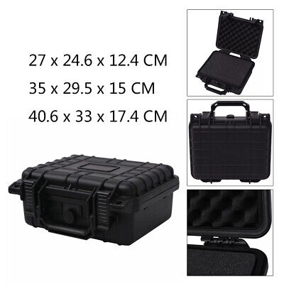 Protective Equipment Hard Carry Case Box Plastic Camera Foam Protect 3 Sizes