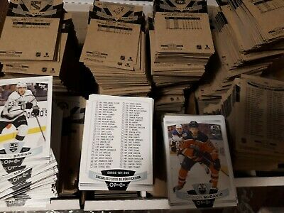 2019-20 UD O-Pee-Chee OPC Base Set Single 251-500 UPick from list lot O Pee Chee