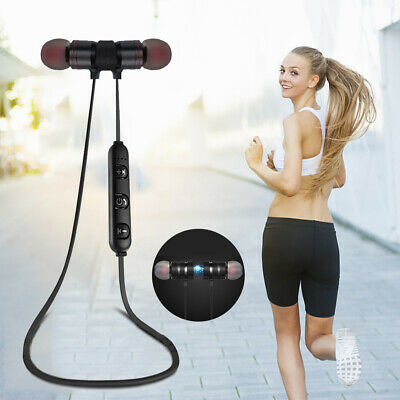 Magnet Wireless In-Ear Sports Stereo Earphone Headset Headphone Bluetooth 4.1 ZE