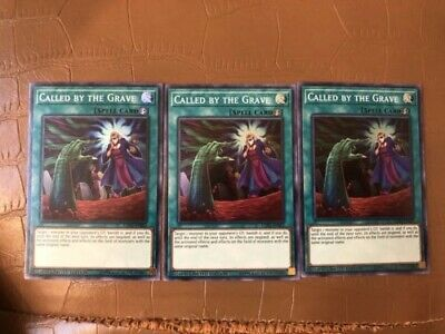 3x Called by the Grave (EXFO-ENSE2) -  Super Rare Yugioh Limited Edition