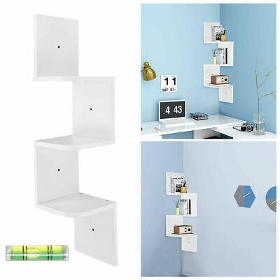 3 Tier Floating Wall Shelves Corner Shelf Storage Display Bookcase Home Decor