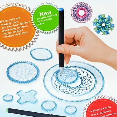 27Pcs Original Spirograph Deluxe Set Kids Drawing Art Design Draw Craft Kids