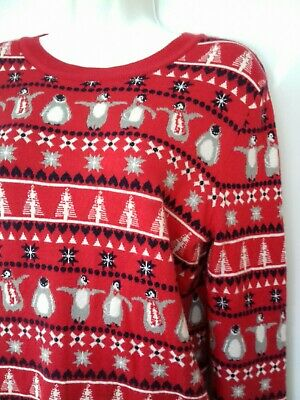 Vintage style Xmas Sweater Red ultra soft knit Primark Christmas Jumper M