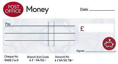 BANK of ENGLAND LARGE JUMBO CHEQUE Presentation 3 SIZES Charity