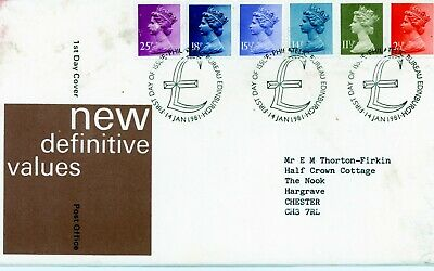 Gb 1981 Royal Mail First Day Cover. Definitive Set Special Handstamp (Fdc161)