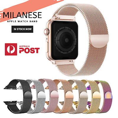 Milanese Magnetic Stainless Steel Strap iWatch Band Apple Watch Series 5 4 3 2