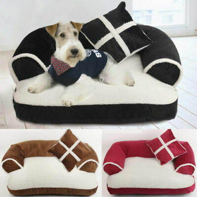 Pet Cat Dog Bed Soft Couch Sofa Chair Mat Kennel Doggy Puppy Cushion Basket Pad