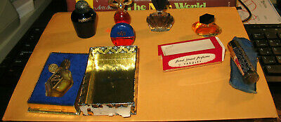 Authentic Vintage Miniature Perfume Bottles, Lot 7, 2 Original Box, 5 w/ Perfume