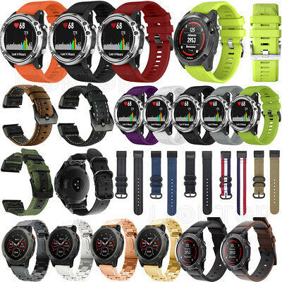 Quick For Garmin Fenix 6X 6S 6 Pro Nylon/Silicone/Leather Metal Strap Watch Band