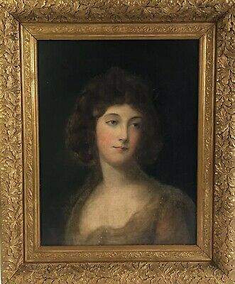 Fine 19th C Oil Painting Portrait Of Lady Housed In A Period, Antique Frame