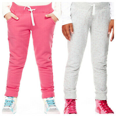 New Girls 2 Pack Jogging Bottoms Pink Mix Ex M&S Age 5-6 Years RRP £12