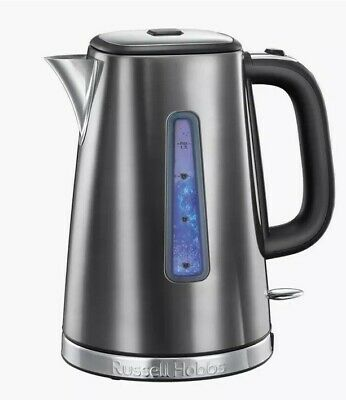 Russell Hobbs 23211 Luna Quiet Boil Electric Kettle Stainless Steel Grey New