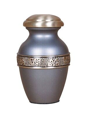 Mini urn for ashes, small Keepsake urn sharing ashes Memorial Remembrance Grey
